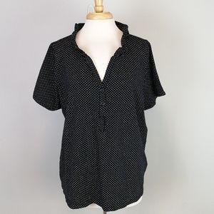 Lane Bryant Polka Dot Collared Shirt Size 22/24
